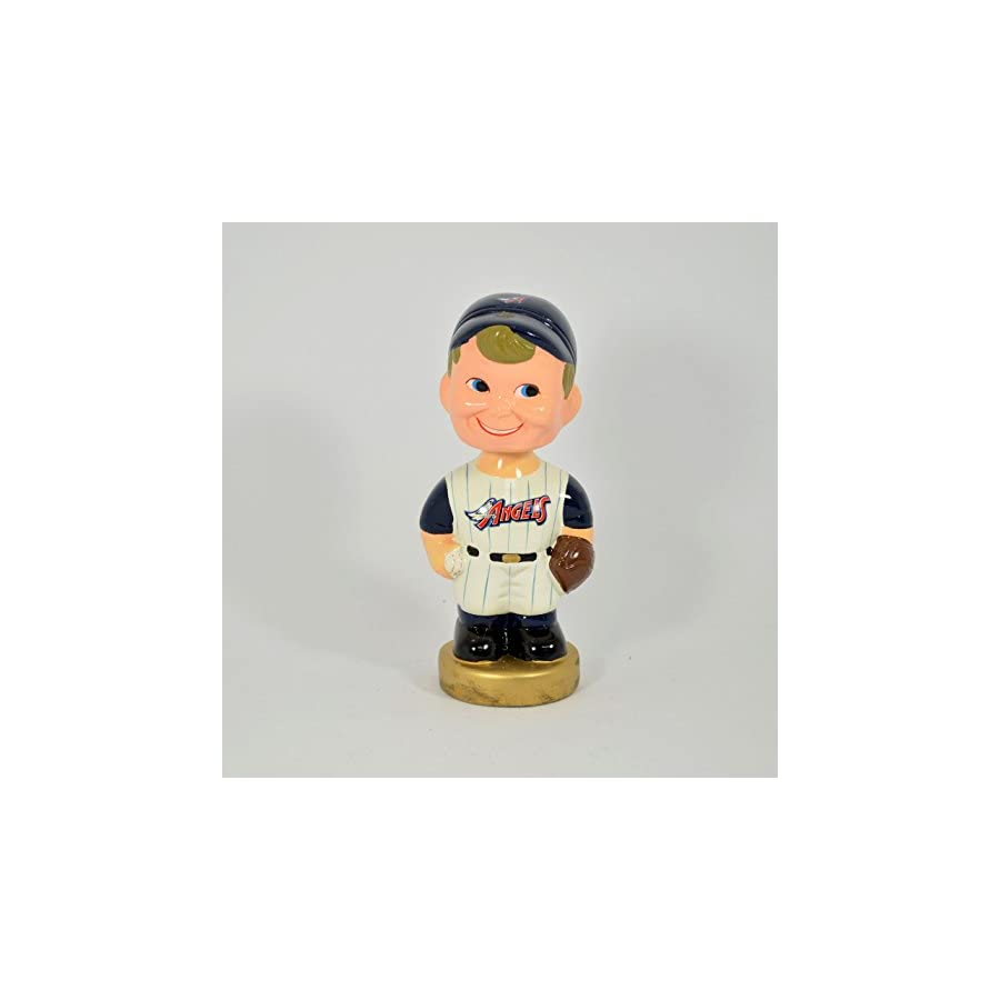 "California Angels Bat Boy 7"" Collectable Ceramic Bobble Head NIB"