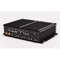 Hot on sale! best desktop pc Qotom-i37C4 4G ram 32G SSD 300M WIFI 2 RJ-45 4 serial port