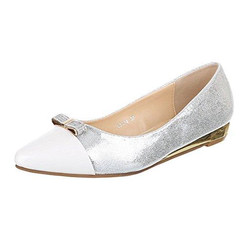 White Design Ital Women's WHITE Ballet Flats xIvvr8q