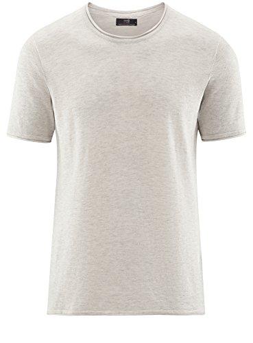 shirt Rotondo Basic Uomo Orlo Oodji Con 1200m T Inferiore E Bianco Ultra Scollo Grezzo t06wWqUI