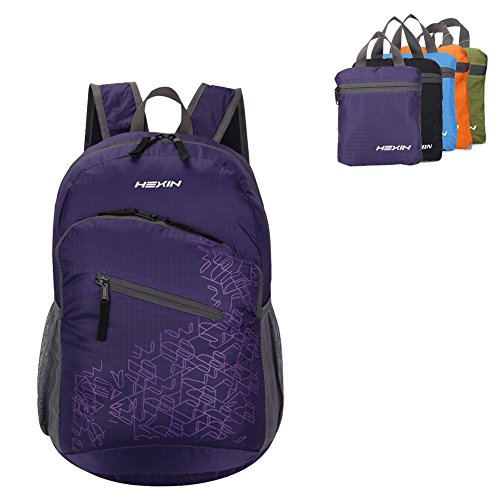Packable Convenient Traveling Backpack for Day Trips,Vacation,Travel,Day Hikes,Camping Daypack 33L(Purple)