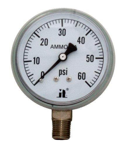 Zenport APG60 Zen-Tek Ammonia Gas Pressure Gauge, 60 PSI, Box of 10 by Zenport
