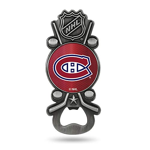 Rico Industries NHL Montreal Canadiens Magnetic Metal Bottle Opener Party Starter