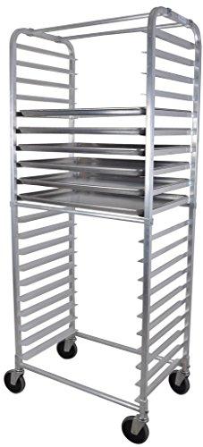 BK Resources BK-ABPR-2S Side Load Aluminum Commercial Rounded Top Bun Pan Rack 20-1/4