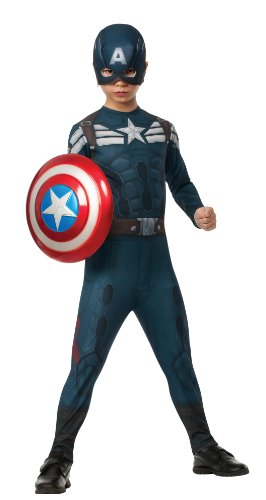 [Rubies Captain America: The Winter Soldier Stealth Suit Costume, Child Small] (Captain America Boys Costumes)