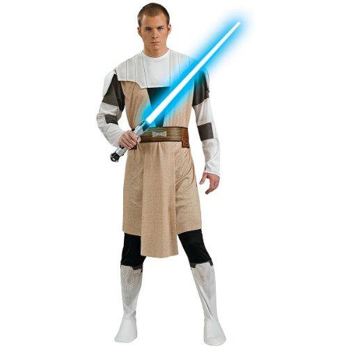 Obi Wan Kenobi Adult Clone Wars Costumes (Obi-Wan Kenobi Adult Costume - Standard)