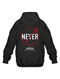 AOPO Metallica Band Logo Men's Long Sleeve Hooded Sweatshirt / Hoodie XX-Large Black