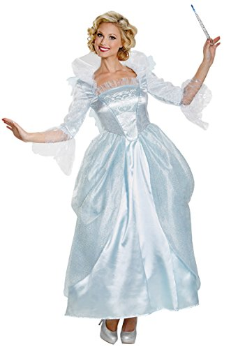 [Disguise Women's Fairy Godmother Movie Adult Prestige Costume, Blue, Large] (Fairy Halloween Costumes For Adults)