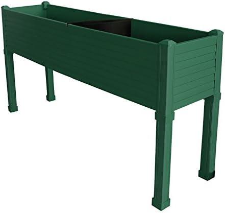 Huerto urbano GREENLAND especial balcón. 120x32x75 cm. Color:Verde ...