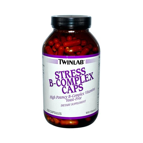 2 Packs of Twinlab Stress B-complex Caps - 250 Capsules by Twinlab