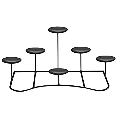 smtyle Candelabra LED Candle Holders For Fireplace with Black Iron