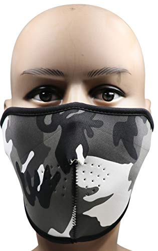 Acme Approved Neoprene Half Face Mask - Black Widow (Grey Camo)