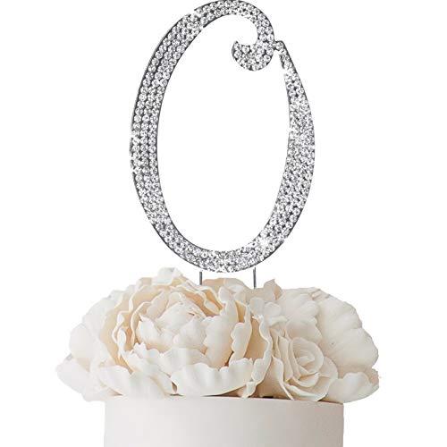 Mikash 4.5 Tall Rhinestone Cake Topper Wedding Party Decorations Supplies on Sale | Model WDDNGDCRTN - 5994 |
