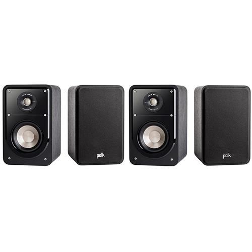 Polk Audio 2 Pairs, Signature Series S15 Small 2-Way American HiFi Home Theater Compact Bookshelf Speaker,(4 Speakers) by Polk Audio