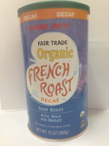 2 Packs Trader Joe's Fair Trade Elementary French Roast Decaf