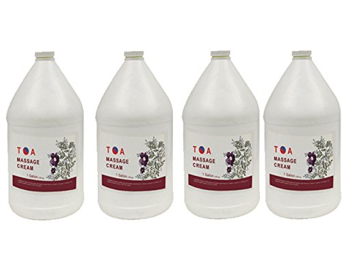 Hydrating Body Massage Unscented Cream Case of 4 Gallons by TOA supply