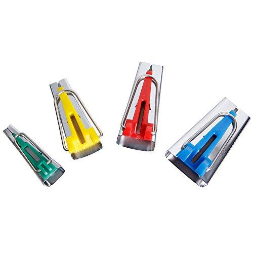 Prochive Schrägbandformer Set Schrägband Werkzeug 4er-Set in 6mm, 12mm, 18mm, 25mm Tape Maker Set