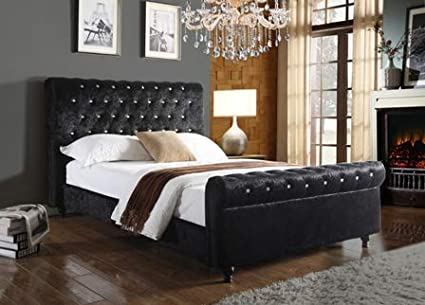 8f5c96ff69e6 bedzonline-EXCLUSIVE PACKAGE DEAL- SELINA CRUSHED VELVET BED FRAME-WITH  LUXURY ZEUS REFLEX