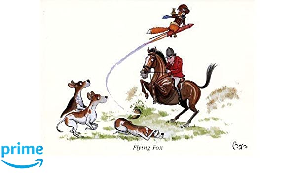Flying Fox Greeting Card for people who like hunting horses and riding