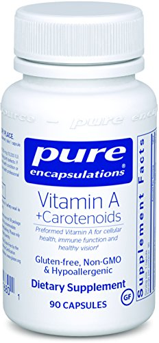 Pure Encapsulations - Vitamin A + Carotenoids (Lutein, Zeaxanthin, and Astaxanthin) - Hypoallergenic Dietary Supplement - 90 Capsules by Pure Encapsulations