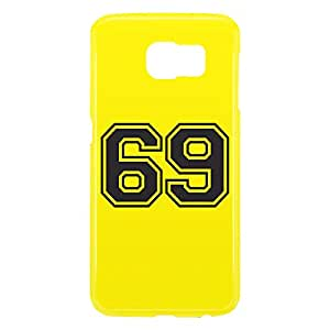 Loud Universe Samsung Galaxy S6 3D Wrap Around Number 69 Print Cover - Yellow