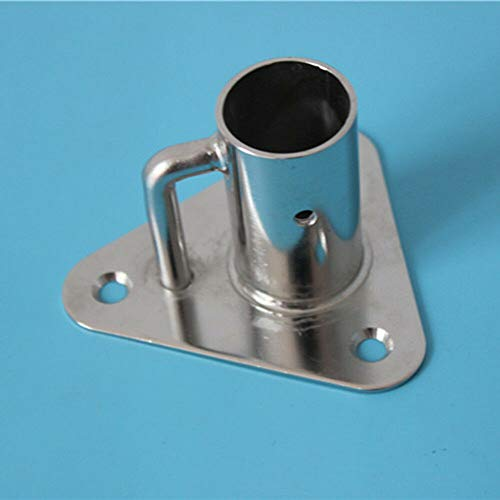 - Stainless Stanchion Triangle Base Socket 90 Angle Flag Pole Socket Base,AISI 316 Stainless Steel Polished