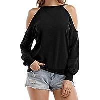 Sarin Mathews, Womens parte superior con escote Halter Cut Out Shoulder Blusa Sudaderas