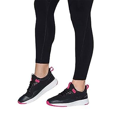 Lorna Jane Elevate Classic 1.8 / Elevate Classic 1.8, Womens Shoes, Black (Black/Neon Pink), 6 AU