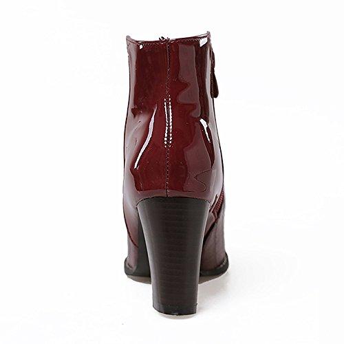 ZHZNVX HSXZ Damenschuhe Damenschuhe Damenschuhe synthetische Microfaser PU-Kunstleder Winter Fallen Mode Stiefel Stiefelette Stiefel Ferse Round Toe Stiefelies Stiefeletten für 48bd9a