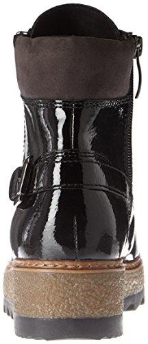 Noir Patent Femme Rangers Bottes black 25220 Tamaris wxnFYv0