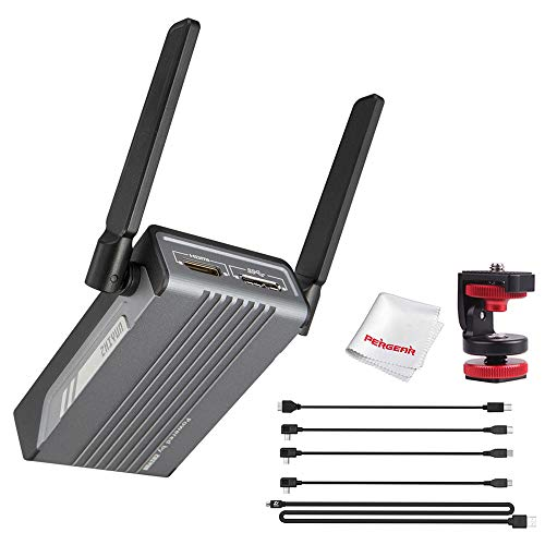 Zhiyun Wireless Image Transmission Transmitter for Camcorders DSLR Cameras 1080p HDMI Transmission to 3 Devices in a Distance of 100m 200ms Latency Real-time Monitoring Support Android & iOS 3D LUT
