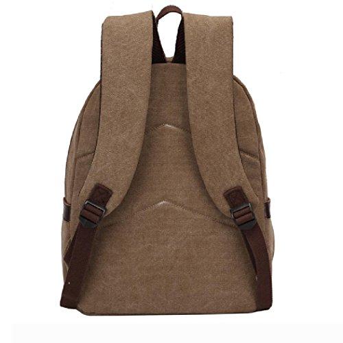 Vintage Canvas Rucksäcke Outdoor Travel Rucksack Casual Canvas Taschen für Männer Frauen H38 x L30 x T14 cm