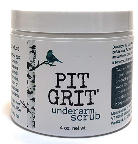 Pit Grit Underarm Scrub Armpit Detox Exfoliation to Fight Body Odor All Natural for use with Natural Deodorant from Boyle's Naturals, LLC