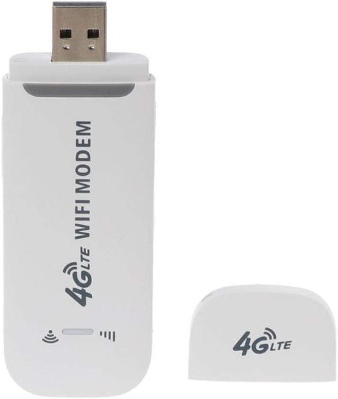 Pena 4G LTE USB Modem Network Adapter Wireless USB Network Card 4G 150 Mbps WiFi Dongle Unlocked(White)