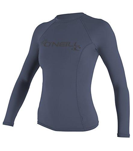 O'Neill Women's Basic Skins Upf 50+ Long Sleeve Rash Guard, Mist, X-Large by O'Neill