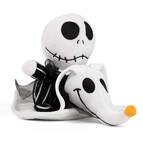 Nightmare Before Christmas Dog Halloween Costumes (Disney Nightmare Before Christmas Jack and Zero Plush Toy, Dog Chew Toy with)