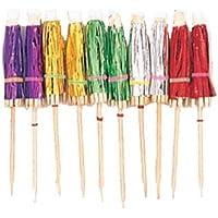 Amscan International Parasol Foil Picks Hawaiian, Pack of 10
