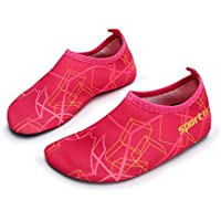 L-RUN Kids Swim Water Shoes Barefoot Aqua Socks Shoes for...