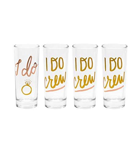 - About Face Designs Unisex-Adult's I Do/i Do I Do/i Do Crew Shot Glasses Set (set Of 4), Multi, Standard