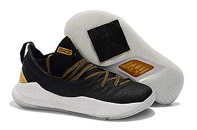 ba1d7188 UnderArmour UA Curry 5 Championship Pack Black/Gold Men's Basketball Shoes  (8.5 ...