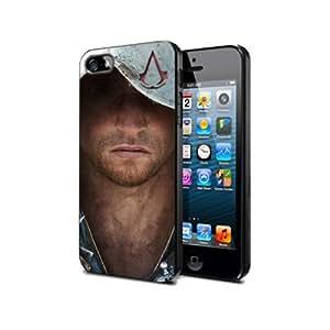 Ass04 Assassin's creed 4 Game : Juego Funda de silicona el Negro para iPhone 6 Plus
