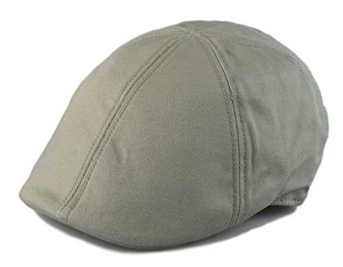 Ivy Driver - Mens 6pannel Duck Bill Curved Ivy Drivers Hat One Size(Elastic band Closure) (Gray)