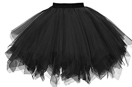 Musever 1950S Vintage Ballet Bubble Skirt Tulle, Black, Size Small/Medium]()
