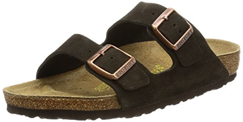 Birkenstock womens Arizona in Mocha from Leather Sandals 41.0 EU W by Birkenstock