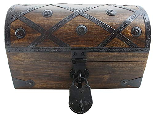 (Well Pack Box Deluxe Wooden Pirate Treasure Chest 12