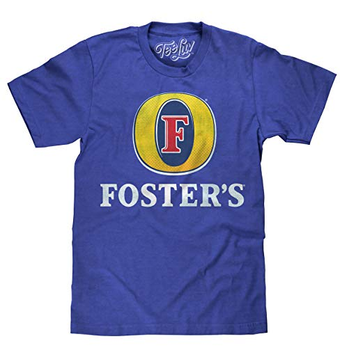 Tee Luv Foster's Lager T-Shirt - Licensed Foster's Logo Beer Shirt (X-Large) Royal Heather (Best T Shirts Australia)