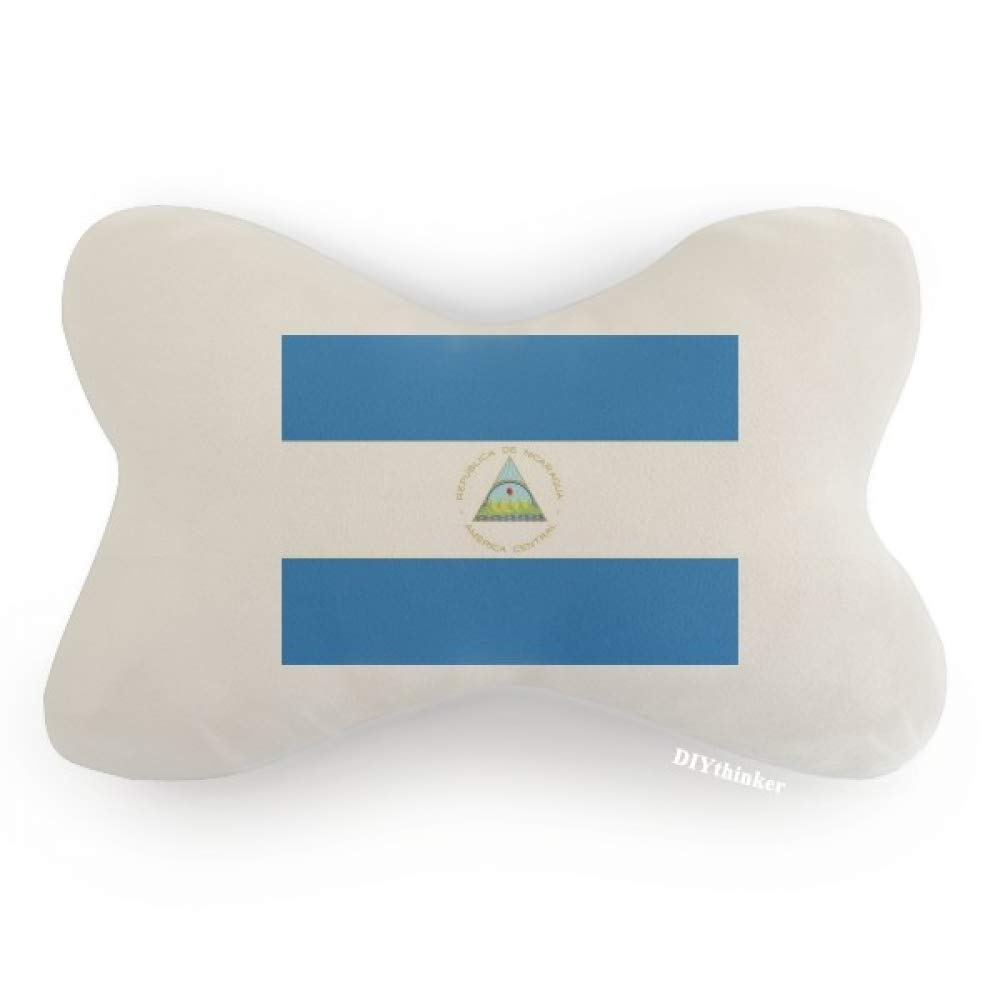 DIYthinker Nicaragua National Flag North America Country Car Neck Pillow Headrest Support Cushion Pad