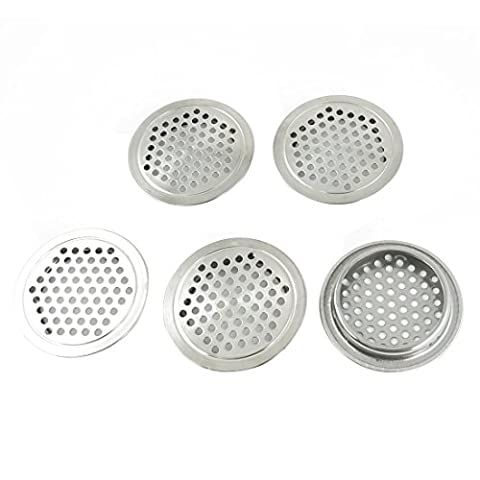 65mm Dia Stainless Steel Round Mesh Hole Air Vents Louver 4 Pcs
