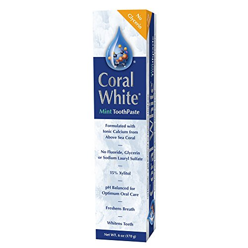 CORAL LLC Coral White Toothpaste Mint Flavor 6 Ounce Tube (White Mint Toothpaste)