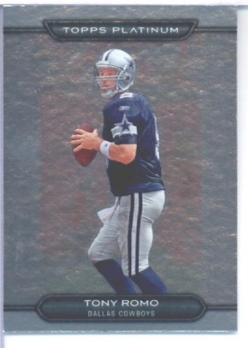 Topps 2010 Platinum Ballon de foot Card#20 Tony Romo Dallas Cowboys